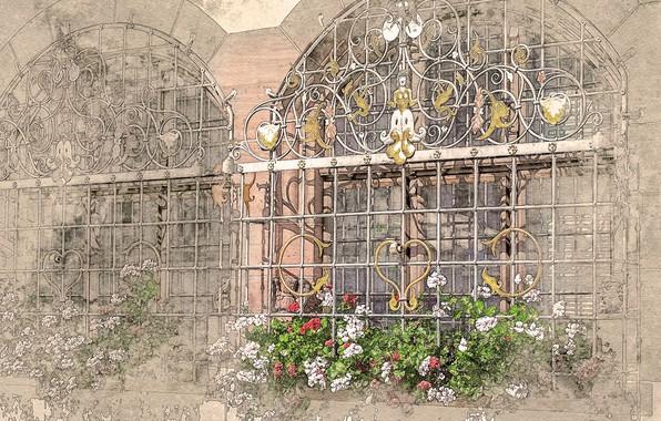 Picture paint, photoshop, window, watercolor
