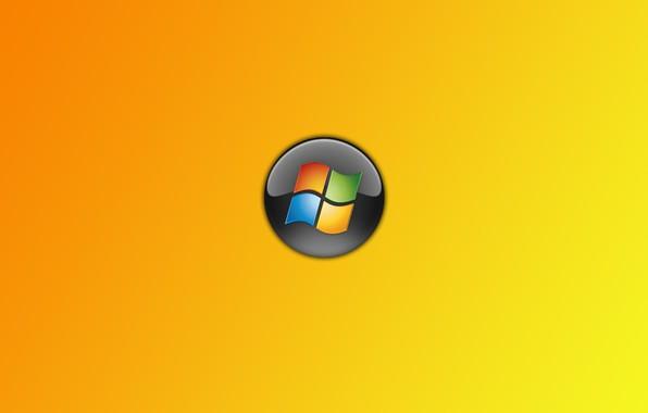 Picture windows, logo, orange