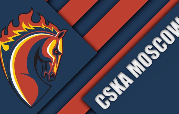 Picture BLUE, BACKGROUND, TEXTURE, RED, FOOTBALL, LINE, MOSCOW, FC CSKA, LOGO, EMBLEM, HORSE FIRE, CVBP