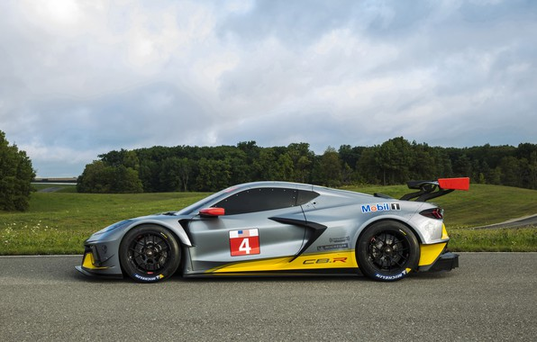 Picture machine, the sky, trees, Chevrolet, sports car, C8.R