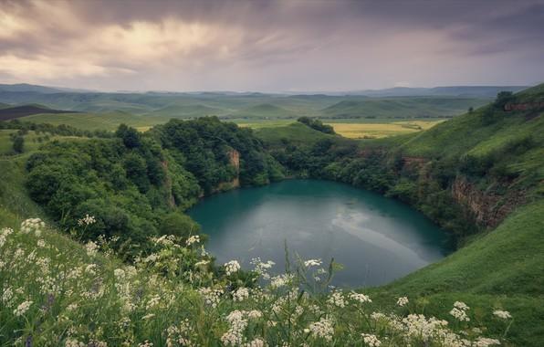 Picture mountains, nature, lake, hills, Kabardino-Balkaria, CBD, Agoranov Alex, Alexey Bagaryakov, Shadhurey