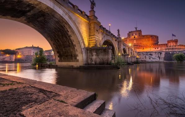 Picture Roma, Architecture, Castel Sant'Angelo bridge