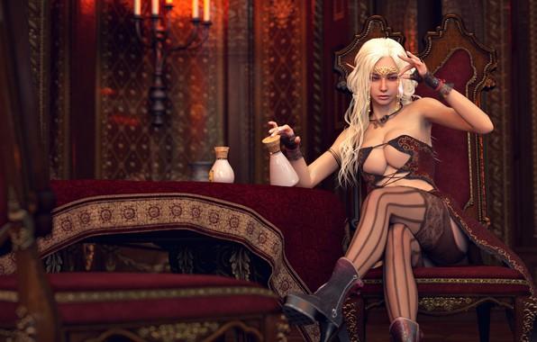 Picture girl, decoration, elf
