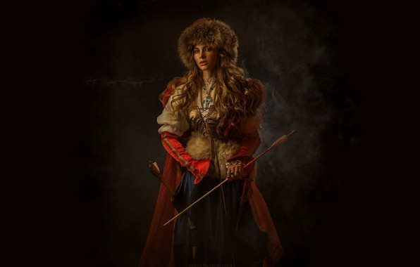 Picture Girl, Bow, Arrows, Dagger, Eric Burhani