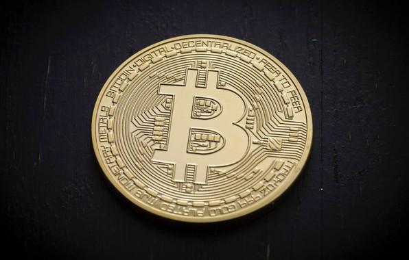 Picture background, black, black, coin, fon, coin, bitcoin, bitcoin, btc
