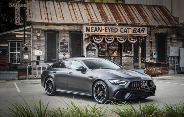 Picture Mercedes - Benz, 2018, sports coupe, Mercedes - Benz, Mercedes-AMG GT 63S 4MATIC+4Door-Coupe, hyacinth red …