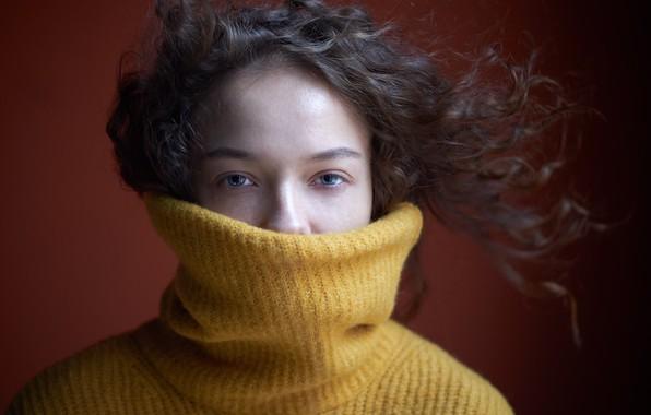 Picture girl, hair, sweater, Daria Kryuchkova