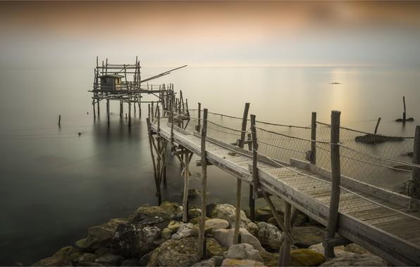 Picture sea, coast, Italy, pierce, Abruzzo