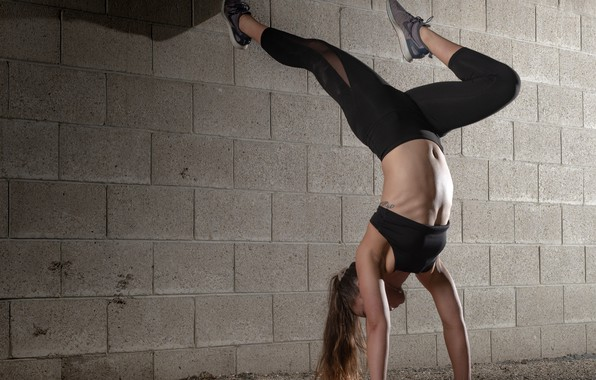 Picture wall, woman, fitness, flexibility