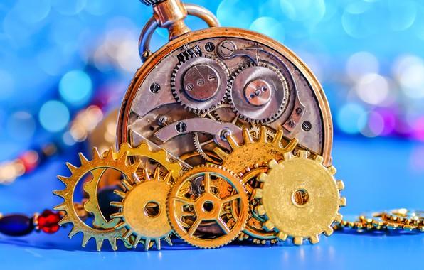 Picture macro, watch, mechanism, gear