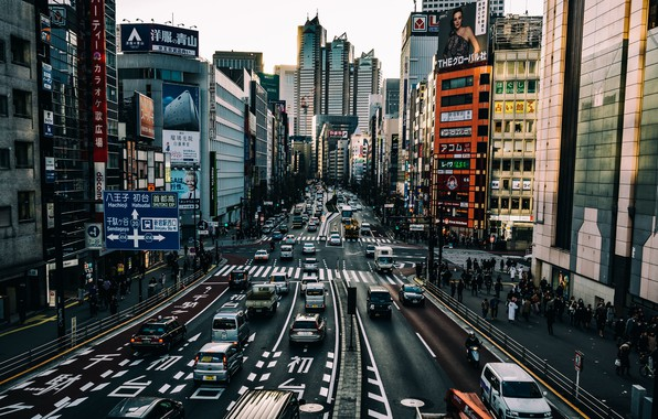 Picture the city, street, Tokyo