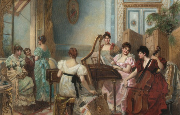 Picture French, 19th/20th Century, BREVAL, Christie's, THE CONCERT IN THE SALON