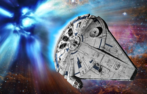 Picture easy, Star Wars, cargo ship, Millenium falcon, YT-1300, korolinsky