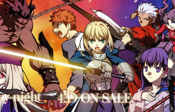 Photo Wallpaper Girl Characters The Saber Emiya Shirou Artoria Pendragon Fate