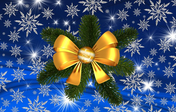 Picture winter, holiday, star, Christmas, snowflake