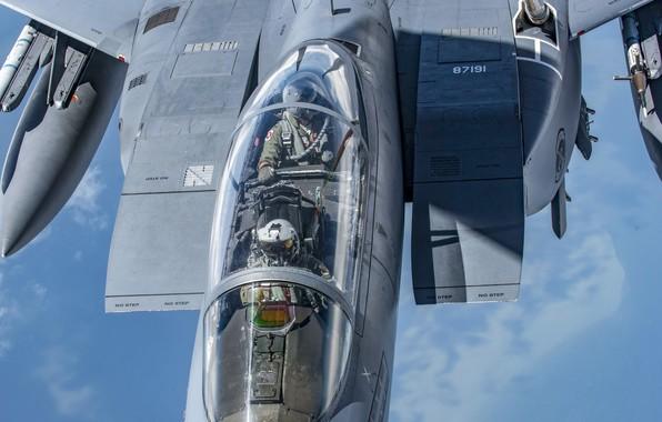 Picture USAF, Pilot, F-15E Strike Eagle, Cockpit