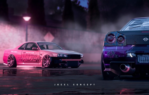 Picture Auto, The game, Machine, Nissan, GT-R, Need for Speed, Skyline, Nissan Skyline, Rendering, Concept Art, …