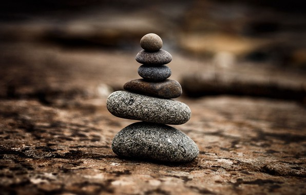 Picture surface, stones, harmony, balance