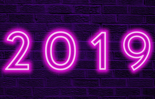 Picture background, figures, New year, 2019