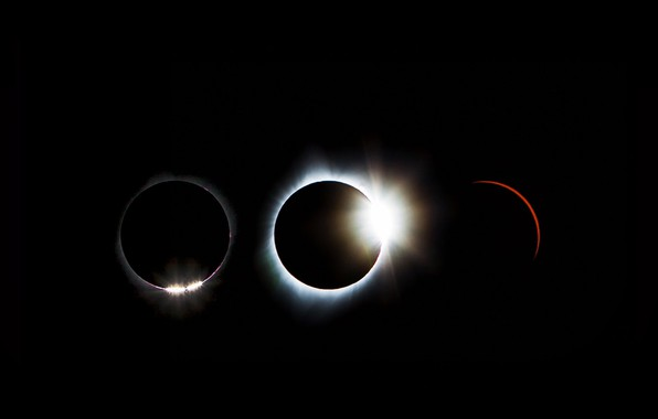 Picture solar Eclipse, the sequence, August 21, 2017.