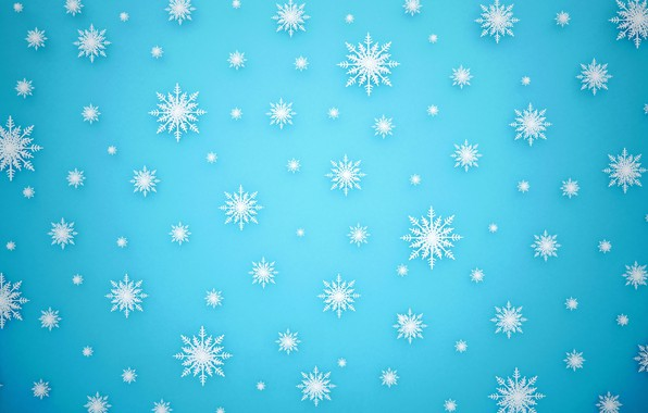 Picture winter, snow, snowflakes, background, Christmas, blue, winter, background, snow, snowflakes