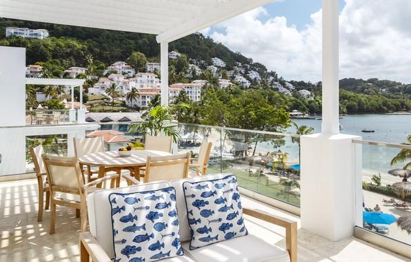 Picture sea, beach, the ocean, Villa, sea, villa, Caribbean, caribbean, saint lucia, windjammer landing, st-lucia, Saint …