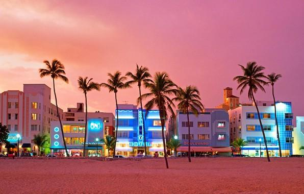 Picture street, home, Miami, FL, USA, Ocean Drive