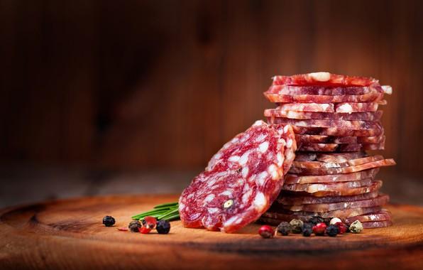 Picture pieces, sausage, spices