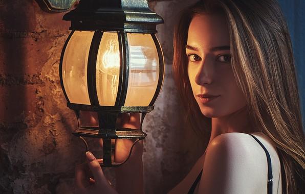 Picture girl, lantern, Yana Diana, Nikolai Servicew