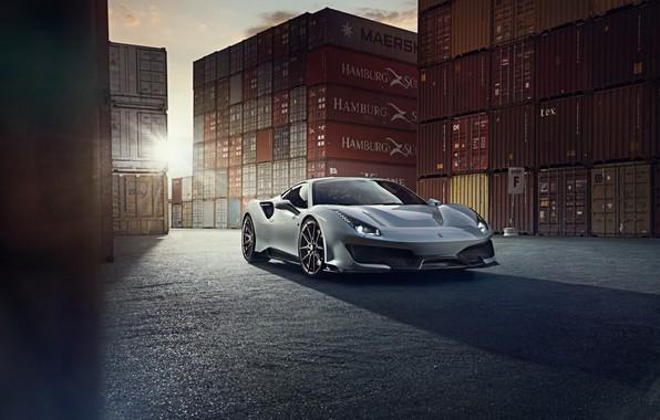 Picture the sun, Ferrari, sports car, Novitec, 488, Pista
