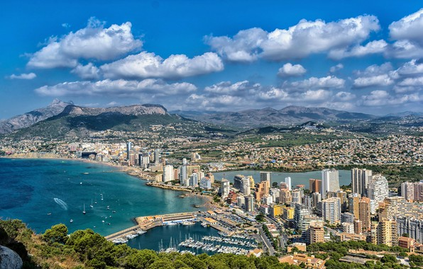 Picture coast, home, pier, Spain, Calpe Alicante