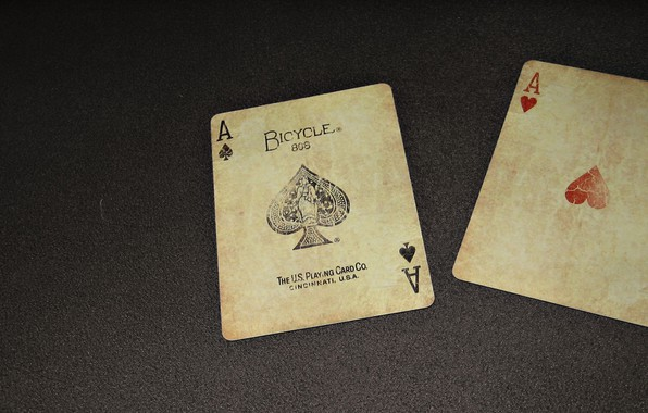 Picture card, poker, 2 aces