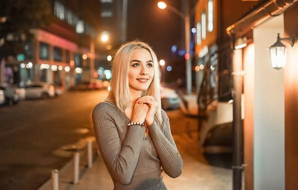 Picture dress, smile, blonde, A Diakov George