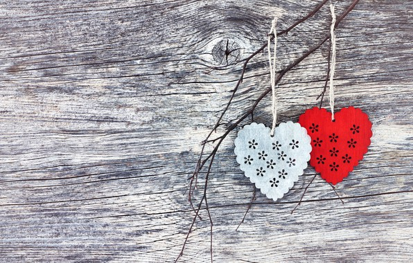 Picture love, heart, hearts, red, love, wood, romantic, hearts, valentine's day