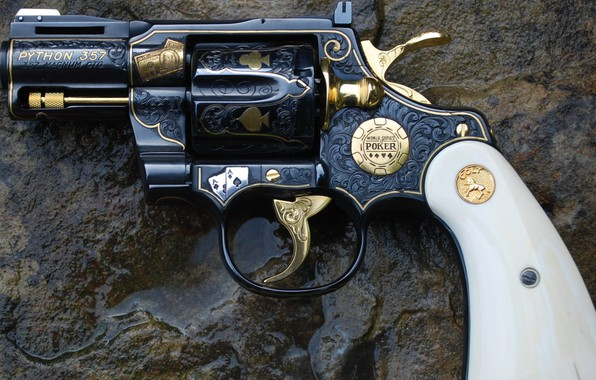 Picture weapons, Custom, gun, weapon, engraving, custom, Colt, Revolver, Python, Revolver, 357 Magnum, 357 Magnum, Engraving, …