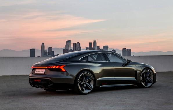 Picture roof, Audi, coupe, 2018, e-tron GT Concept, the four-door