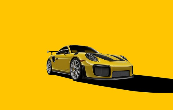 Picture Porsche, GT2, Yellow, VAG, Backgraund