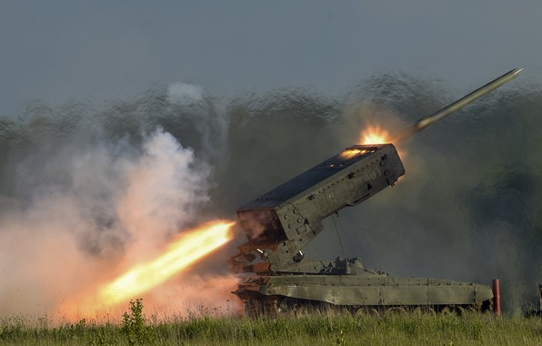 Picture Rocket, TOS-1, TOS-1A, Sun, Volley, Heavy flamethrower system
