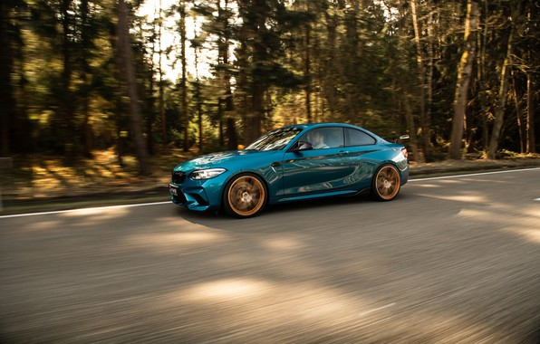 Picture asphalt, trees, BMW, G-Power, Competition, F87, BMW M2