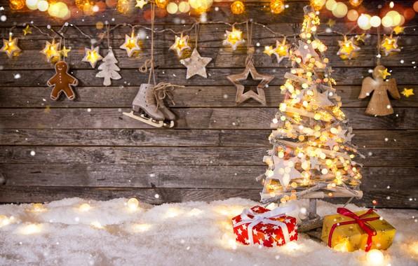Picture Christmas, gifts, New year, herringbone, garland