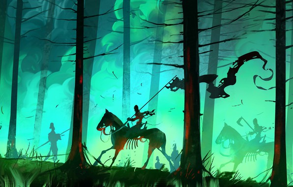 Picture Forest, Fantasy, Zombies, Concept Art, Dominik Mayer, Environments, Banner, by Dominik Mayer, 30 min Speedpainting, …