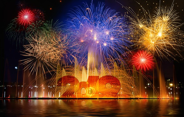 Picture holiday, New Year, fireworks