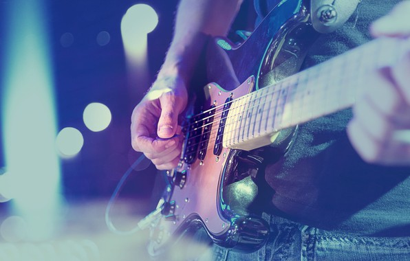 Picture Guitar, Concert, Musician