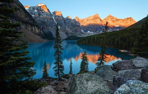 Picture landscape, mountains, lake, beauty