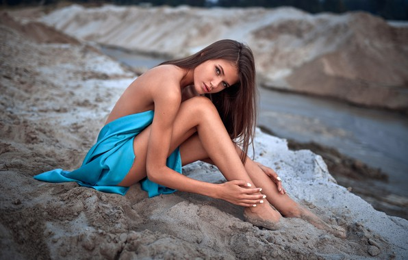 Picture look, landscape, sexy, pose, model, portrait, makeup, figure, hairstyle, brown hair, legs, beauty, sitting, on …