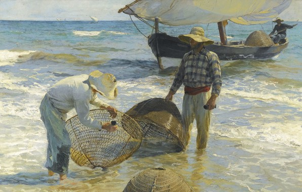 Picture 1895, Spanish painter, Valencian fisherman, Valencian fisherman, Joaquin Sorolla and Bastida, Spanish painter, Joaquin Sorolla …