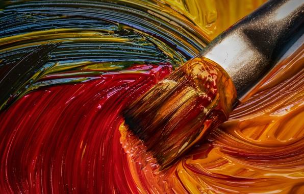 Picture macro, paint, brush