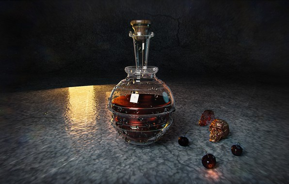 Picture skull, decanter, HP Potion, Taisa Kislova (DarP)