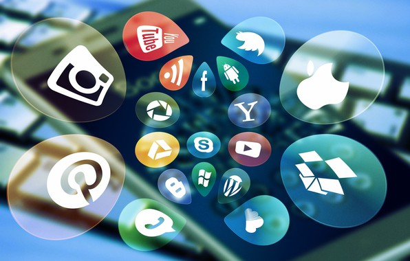 Picture icons, communication, social networks