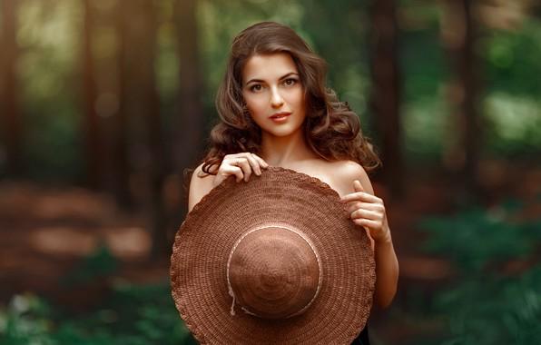 Picture look, girl, nature, hair, hat, beautiful, Andrey Metelkov